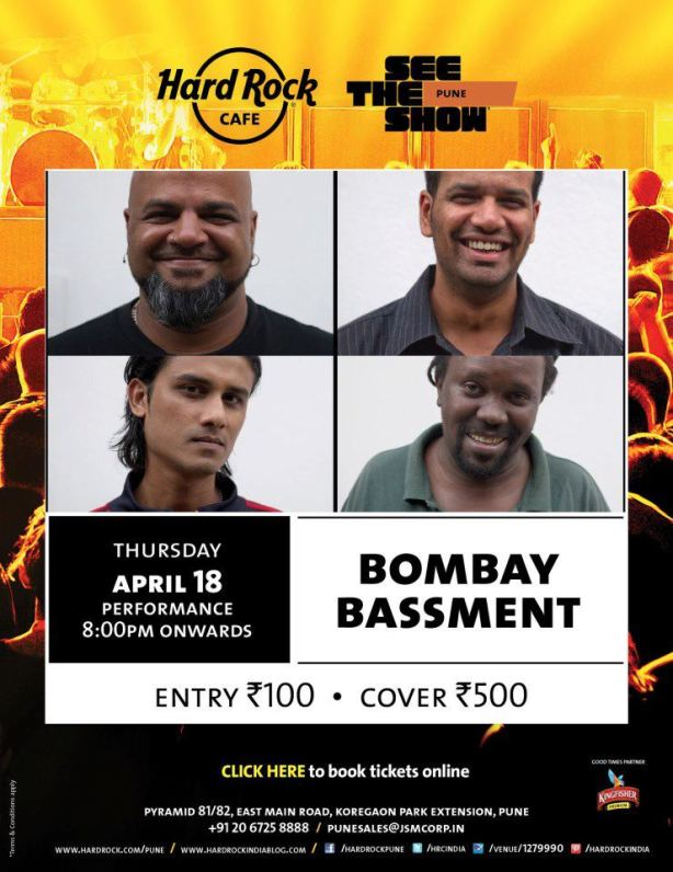 Bombay Bassment Live @ Hard Rock Cafe, Pune - 18th April 2013